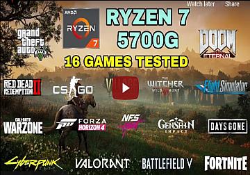 Ryzen 7 5700G Vega 8 & 16GB Ram   Test in 16 Games in 2021 - NO Dedicated GPU